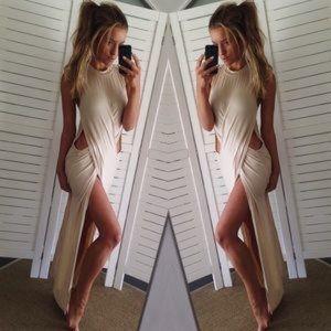 Sabo Skirt front slit cutout maxi